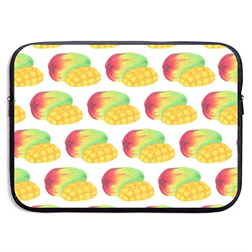 Neopreen Schokbestendige Laptop Sleeve -Mango Art Patroon, 15 Inch Computer Beschermende Rits Case Compatibel voor Notebook/Ultrabook, Cool Computers Tas voor Vrouwen Meisjes Mannen Jongens