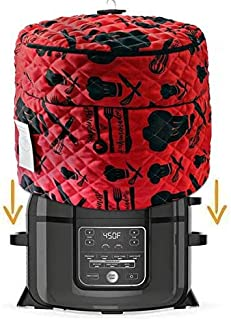 Pressure Cooker Cover - Custom Made Accessories - Fits 6.5 QT and 8 Qt. For Use With Ninja Foodi (6.5 and 8 Quart, Red and Black)