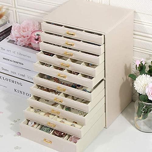 Caja de joyería, caja de joyería grande de 10 capas, ideal para...