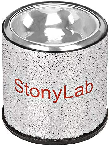 StonyLab Dewar Flask Hemispherical Borosilicate Glass Dewar Flask with Aluminum Base 90mm Interior product image