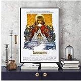 Laberinto 1986 clásico David Bowie película pintura al óleo póster impresiones lienzo cuadro de...