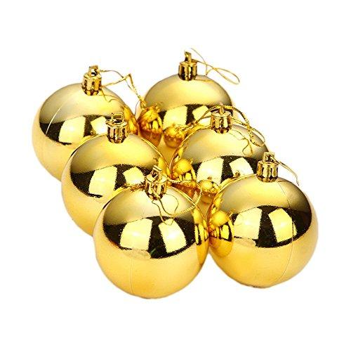 Da.Wa 12pcs de Colgante Adornos la Bolas de Navidad para Árbol de Navidad Decoración Oro-3cm