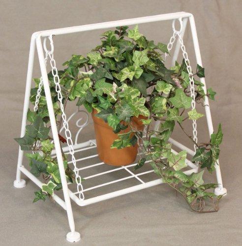 DanDiBo bloemenkruk schommel Romance wit 2073 bloemenstandaard 30 cm pop decoratie