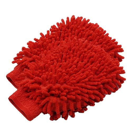 MUXItrade (2 pièces) Voiture Wash Mitt, Microfibre chenille car wash mitt gants corail velours absorbant wet/dry clean, lavage de voiture nettoyage Gant Wash Mitt, 22 cm x 18 cm