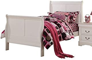 ACME Furniture 24515T Louis Philippe III Bed, Twin, White