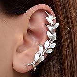 Brazalete de plata del oído ninguna perforación, regalo, puño del pendiente del trepador del oído, statement pendiente, pendiente del manguito no perforado, pendiente no perforado