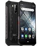 rugged smartphone (2019), ulefone armor x3 con modalità subacquea, 5.5 cellulari ip68 android 9.0, dual sim, 2 gb di ram 32 gb rom, 8mp + 5mp + 2mp, batteria 5000mah, sblocco viso gps nero
