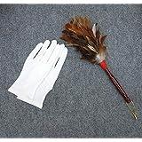 お手入れセット 木柄 毛バタキ 白手袋セット ひな人形用 五月人形 鎧 兜用