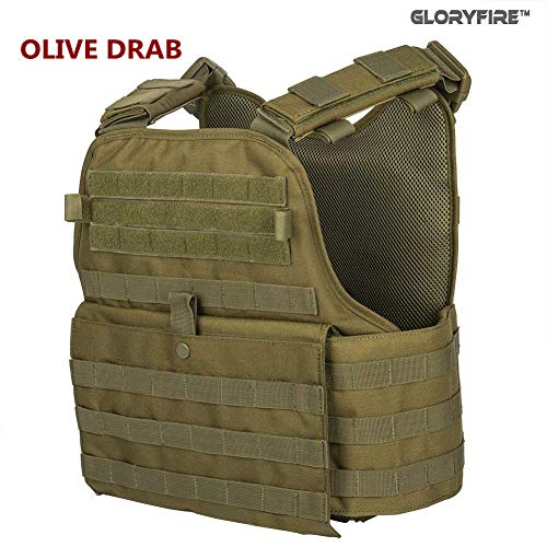 GFIRE Tactical Vest Modular Vest Breathable Combat Training Vest Adjustable Lightweight (Green1)