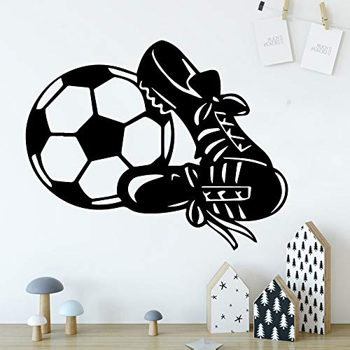 Süße Fußball Wandaufkleber Wandaufkleber Kunst Tapete Baby Kinderzimmer Dekoration 45x55cm
