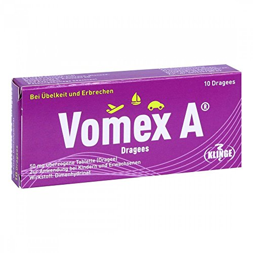 Vomex A Dragees, 10 St. Tabletten