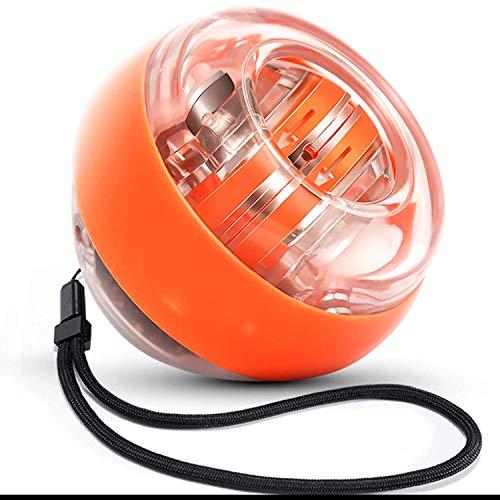 HUANGDAN Muñeca Bola de empuñadura Entrenador Bluetooth Conexión Función Centrífuga Bola Brazo Fuerza Super Gyro Dedo Movimiento Descompresión Conveniente,Amarillo