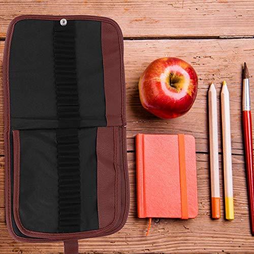Astuccio per penne, astuccio arrotolabile a 72 fori per riporre penne, bussole, righelli e altro materiale scolastico Avvolgere la matita in rotolo