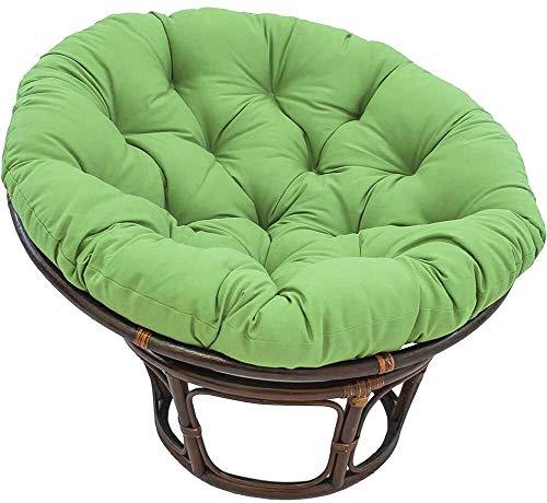 KLZWCP Schaukelstuhl Polster Papasan-Sitzkissen mit Krawatten, Outdoor-Eierstuhlkissen, abnehmbare 100% Polyesterkissen Hängende Swing-Sessel-Pads für Indoor-Garten beige