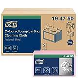 Tork 194750 Paños de limpieza de larga duración Premium / 1 capa/Paños multiusos compatibles con el sistema W8 / 8 paquetes x 40 paños (320 piezas) / color rosa