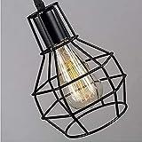Araña de jaula industrial retro, lámpara de araña de metal, lámpara de araña ajustable, lámpara de sala de estar retro americana simple, creatividad de personalidad, utilizada en bares, restaurantes