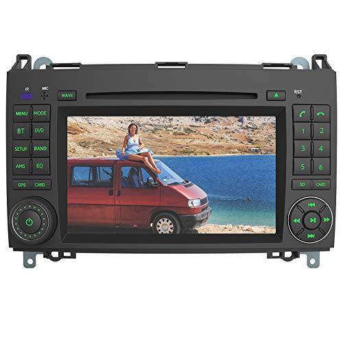 AWESAFE Radio Coche 7 Pulgadas con Pantalla Táctil 2 DIN para Mercedes-Benz, Autoradio para Clase A W169/Clase B W245/Clase V W639 Vito Viano/W906 Sprinter 2500/3000, admite GPS/USB/Mandos del volante
