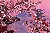 ZXCVASD Rompecabezas para Adultos Juego de Rompecabezas para niños Rompecabezas de Hadas de ensueño Pintura Decoración del hogar Juguete Educativo - Flor de Cerezo rosa-1000 Pieces