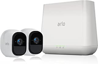 Arlo Pro - Wireless Home Security Camera System with Siren | Rechargeable, Night vision, Indoor/Outdoor, HD Video, 2-Way Audio, Wall Mount | Cloud Storage Included | 2 camera kit (VMS4230)
