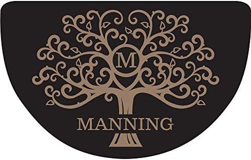 Welcome Tree Personalized Doormat Black Custom Door Mat with Name Durable Indoor Outdoor Mat product image
