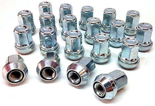 Écrous de roue en alliage Floues variable PCD 4 x 98–4 x 100, plaqué zinc M12 x 1,25 (M12 x 1,25) Fuseau Assise, 19 mm Hex. Lot de 20 écrous de roue