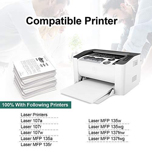 ONINO 106A Compatible Reemplazo para HP 106A W1106A Cartuchos de tóner para HP Laser 107a 107r 107w MFP Laser 135a 135r 135w 135wg 137fnw 137fwg (2 Negro, con Chip)
