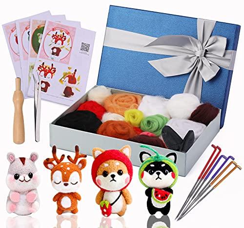 Needle Felting Starter Kit, 4 Pcs Doll Making Manual, 1 Pcs Felting Tool...