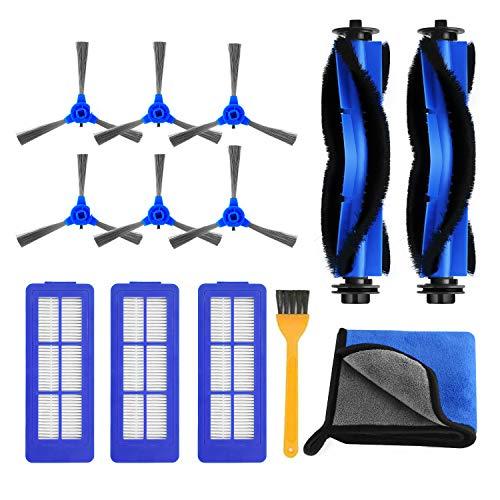 HIRALIY Saugroboter Zubehör für Eufy RoboVac 11s MAX, RoboVac 15C MAX, RoboVac 30C MAX, RoboVac G10, RoboVac G30, RoboVac G30 Edge- 13tlg Zubehör Set