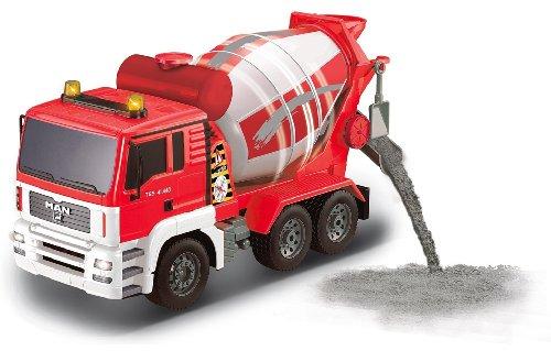 RC Auto kaufen Baufahrzeug Bild 3: BUSDUGA RC MAN Betonmischer 27MHz ferngesteuert & drehende Mischtrommel mit Entladefunktion - Motorsound, Hupe, Licht INKL. BATTERIEN - komplett Set*