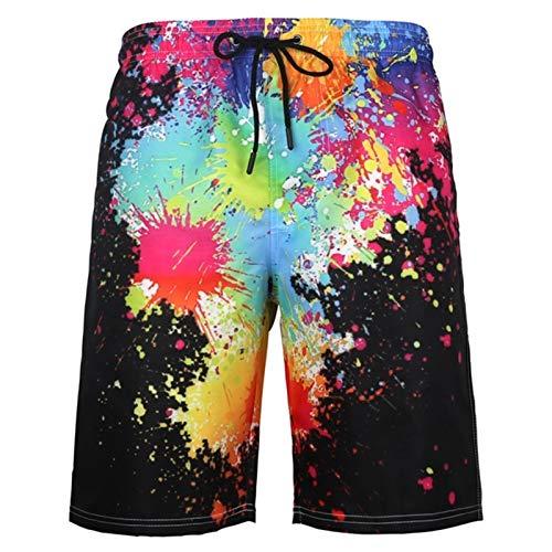 Pantalones Cortos De Playa para Hombres Troncos De Natación Tallas Grandes Piscina De Mar Pool Fool Swim Troncs (Color : F, Size : 5XL)