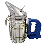 MUDUOBAN Electric Bee Hive Smoker for Beekeeper Stainless Steel with Heat Shield Beekeeping Equipment