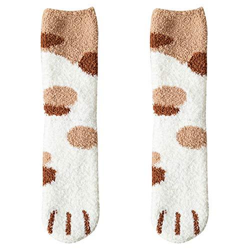KUYG Damen Casual Socken Winter Soft Warm Cat Claws Druck Fleece Socken für Sport Outdoor