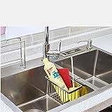 Escurridor de platos Fregadero de acero inoxidable de drenaje de almacenamiento en rack rack Colgando agua cesta cesta de tela for lavar platos Estropajo de almacenamiento Juego de escurridor y estant