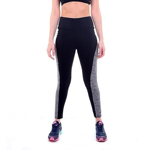 5dfc376c58cb Manstore Women s Yoga Capris Pants High Waisted Workout Running Yoga Capris  Leggings