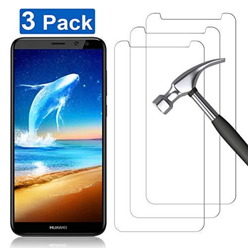 YIEASY 3 Piezas Protector de Pantalla para Huawei Mate 10 Lite, Sin Burbujas 3D touch/9H Dureza Anti arañazos Fácil de Instalar Cristal Vidrio Templado para Huawei Mate 10 Lite - Transparente
