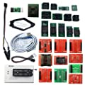 XGecu TL866II Plus USB Programmer Support 15000+ ICS for Flash NAND EPROM+25 adapters+SOP8 Test Clip