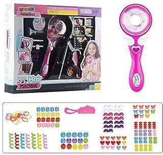 Ganghuo Outil de tressage de cheveux automatique pour les enfants Outil de coiffure amusant pour les filles Rose Mignon Fi...