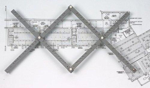 Alvin, PA308, Herramienta de Dibujo de pantógrafo de Madera con Abrazadera de Mesa y Cuatro Cables de Repuesto, 24 Pulgadas, 30 velocidades