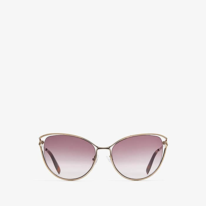 Alexander McQueen  AM0194S (Shiny Rose Gold/Violet Gradient) Fashion Sunglasses