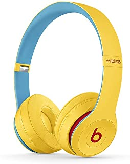 Beats Solo3 Wireless On-Ear Headphones – Beats Club Collection – Club Yellow (Renewed)