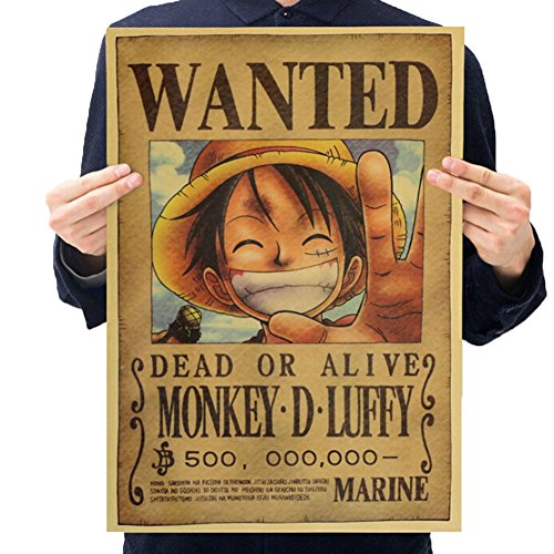 Christ For Givek One Piece Wanted Poster Ruffy Choba Retro Holzpulpe Kraftpapier Poster, Neue Ausgabe(H01)