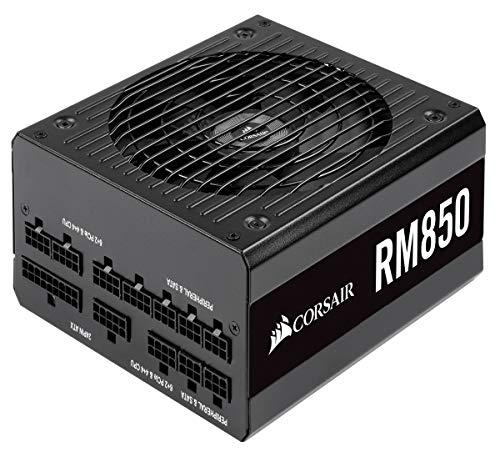 Corsair RM850 PC-Netzteil (Voll-Modulares Kabelmanagement, 80 Plus Gold, 850 Watt, EU) schwarz