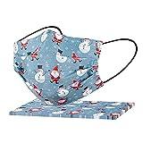 Generic 10-100 Stück Mundschutz Erwachsene Weihnachten Einweg 3-lagig Bunt Weihnachtsmann Motiv Mund Nasenschutz Atmungsaktiv Mund-Tuch Bandana Halstuch Schals für Männer Frauen