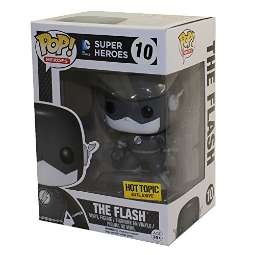 Funko DC Comics Figura Pop The Flash Blanco y Negro, Multicolor (FK7615)
