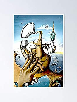 Self Portrait Abstract Salvador Dali Print Poster 12.75  X 17  Inch No Frame Board for Office Decor Best Gift Dad Mom Grandmother and Your Friends