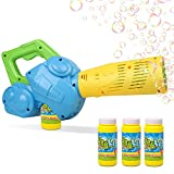 Duckura Bubble Leaf Blowers for Kids, Toddler Bubble Gun Machine with 3 Bubble Solutions, Summer Outdoor Toys, Birthday Party Gifts for Boys Girls Age 2 3 4 5 6 Years Old and Up