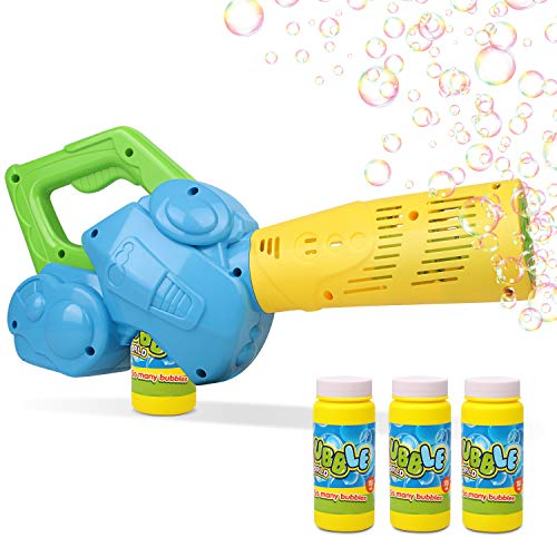 Duckura Bubble Leaf Blowers for Kids, Toddler Bubble Gun Machine with 3 Bubble Solutions, Outdoor Toys, Birthday Gifts Easter Basket Stuffers for Boys Girls Age 2 3 4 5 6 Years Old and Up