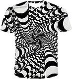 Camiseta Termica Niño Azul Camisas 3D para Hombres, Mujeres, Ilusión Óptica, Gráfico, Unisex, Manga Corta