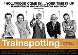 Póster de Trainspotting de película clásica con personajes A4
