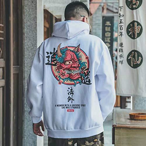 LYJLYJ 3D Pullover Stickerei 3D Katze Welle gedruckt Polar Hoodies Winter Japan Style Casual Sweatshirts Streetwear
